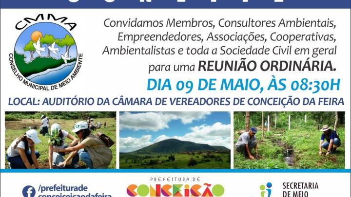 Reunião Ordinária no Auditório da Câmara de Vereadores de Conceição da Feira acontecerá no dia 09 de maio