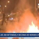 Tunez: Más de 200 detenidos y decenas de heridos en disturbios