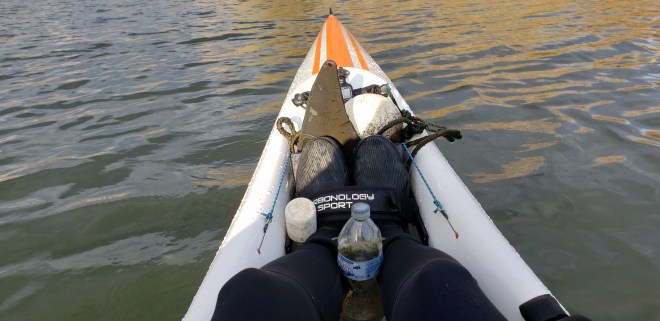 Collecting plastic rubbish while paddling helps me to never forget the mission of the business