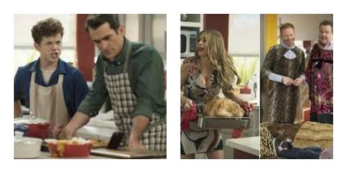 Three turkeys collage
