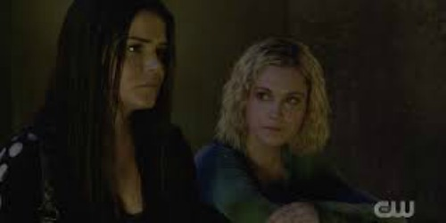 The 100 season 7 episode 15 Octavia and Clarke 1