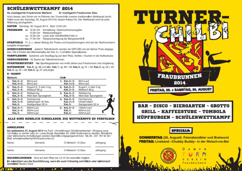 Flyer Turner-Chilbi 2014 A5 Seite 1