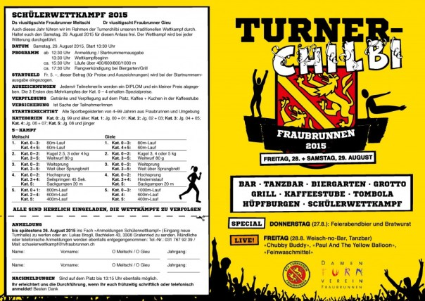 Turner-Chilbi 2015 Flyer A6 Front