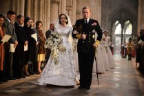 Jared Harris and Claire Foy in The Crown