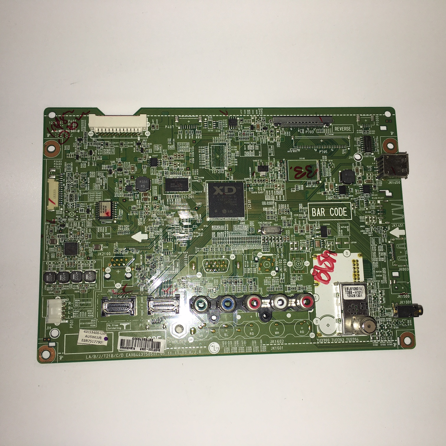 LG EBT62079303 (EAX64437505) Main Board for 42LS3400-UA