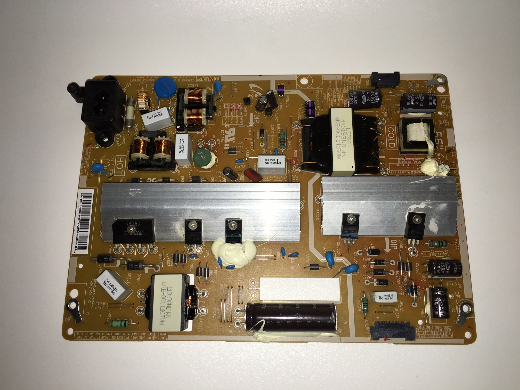 Samsung BN44-00704A Power Supply / LED Board