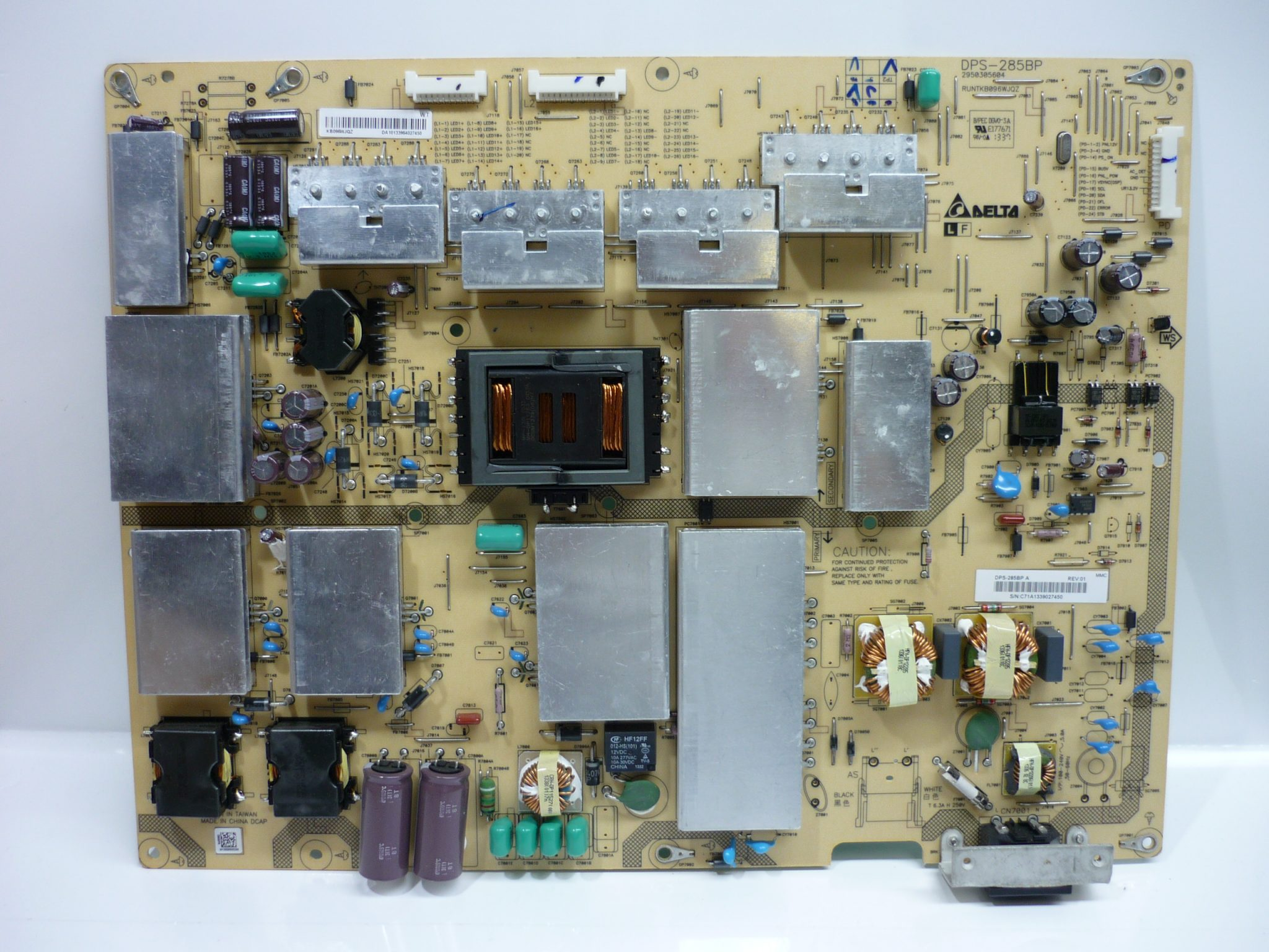 Sharp RUNTKB096WJQZ (DPS-285BP A) Power Supply / LED Board