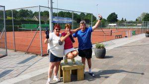Hilde, Wilma & Jan winnaars groep 1