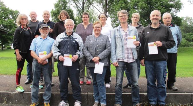 Verleihung der Erwachsenen- Sportabzeichen für 2018 beim TV 1862 Homberg