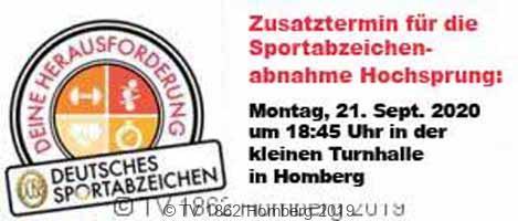 """Zusatztermin zur Leistungsabnahme """"Hochsprung"""" für das Sportabzeichen"""