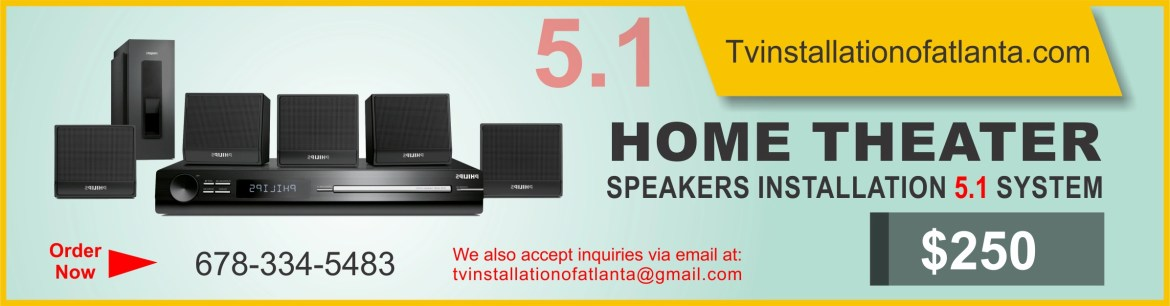 Home Theater Speakers Installation 5.1 System
