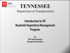 Tennessee Roadside Vegetation Management