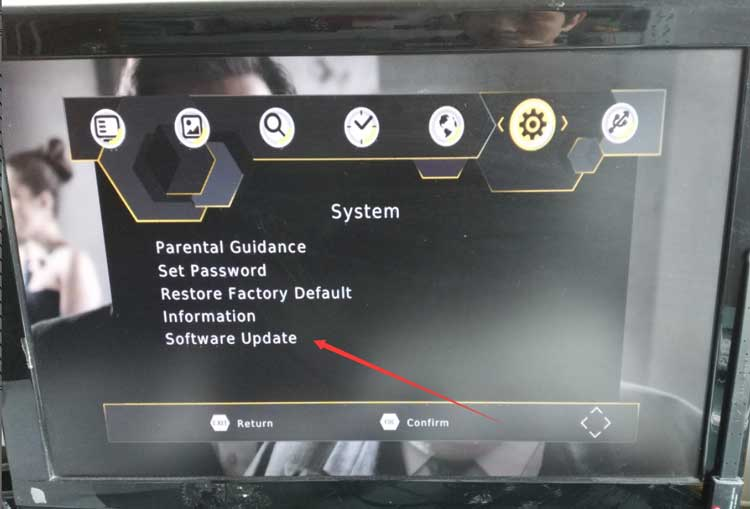 dvb-t2 software upgrade