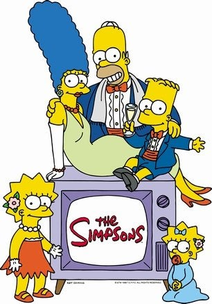 The Simpsons make TV history