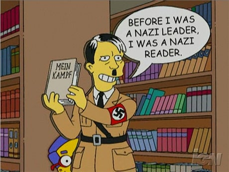 «Before I was a Nazi leader, I was a Nazi reader»