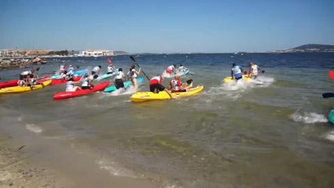 L'étang record, départ d'un run de kayak