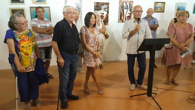 Balade artistique mézoise 2018 – présentation des artistes par le maire de Mèze