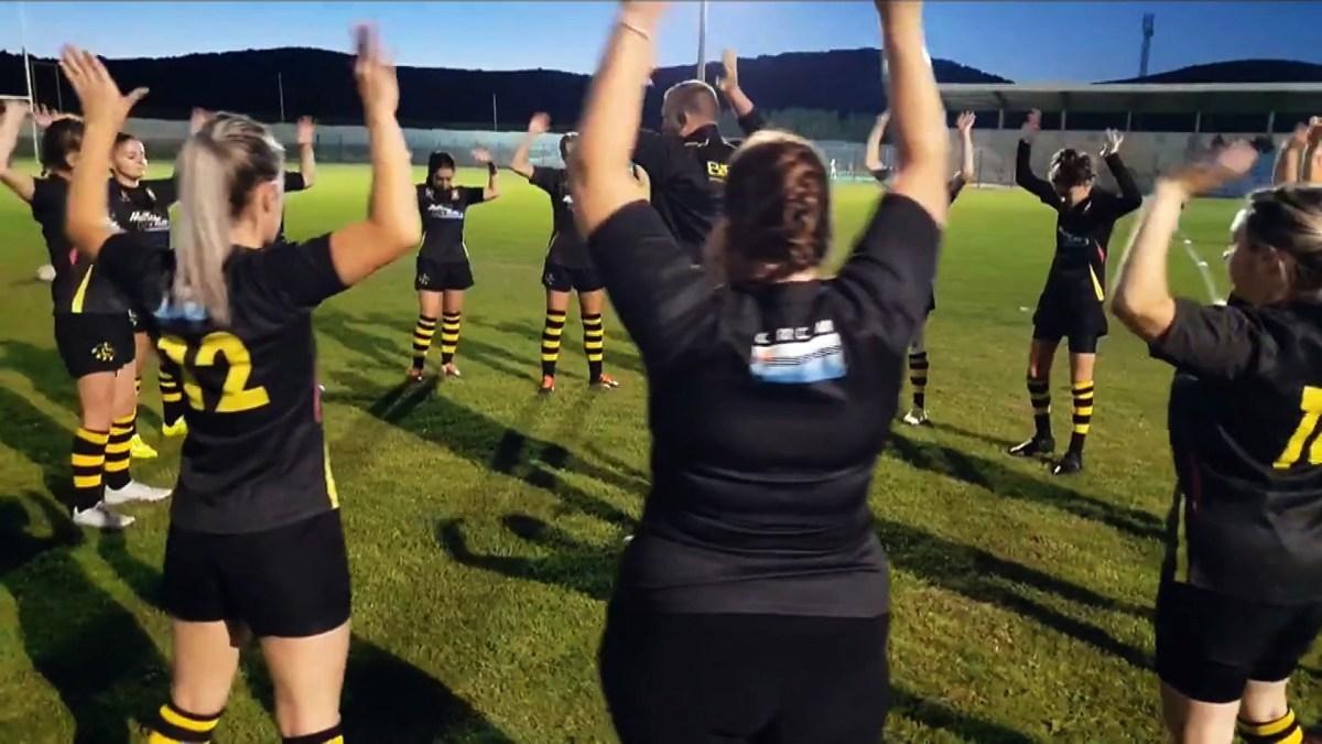 Les Rosé Noir, l'équipe de rugby féminin de Mèze