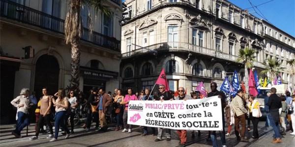 Au coeur de la manifestation des fonctionnaires à Montpellier