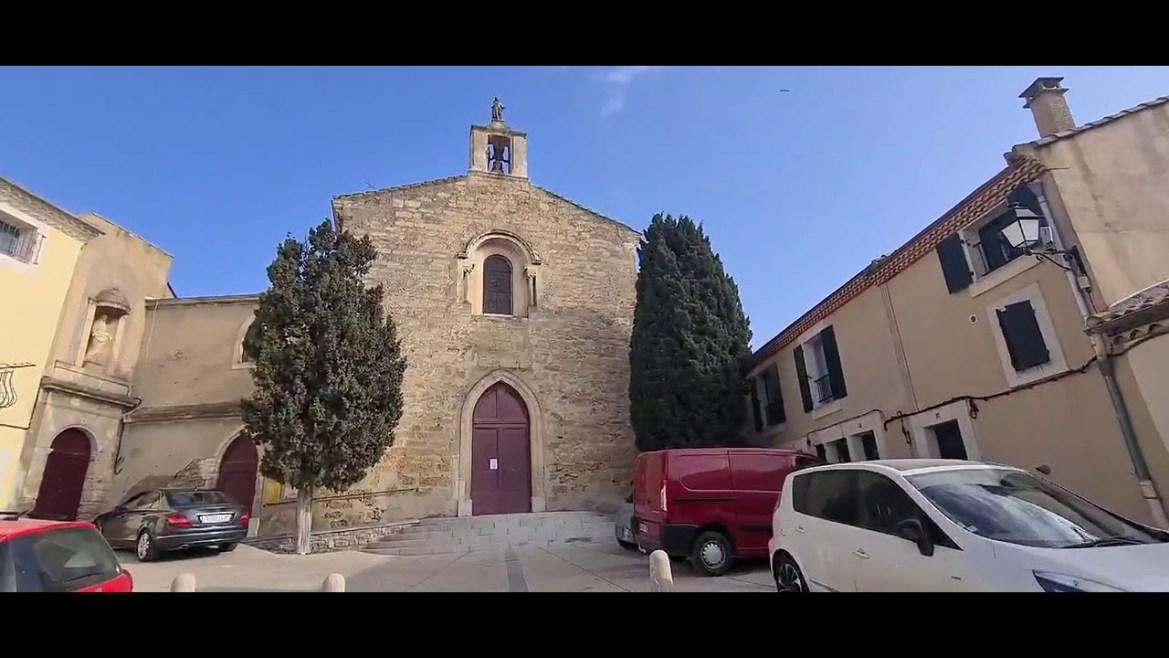 Mèze vue de la terre – La Chapelle des Pénitents