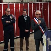 Sainte Barbe à la caserne des pompiers de Mèze - mots des élus