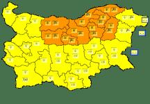 Оранжев код за обилен сняг и силен вятър