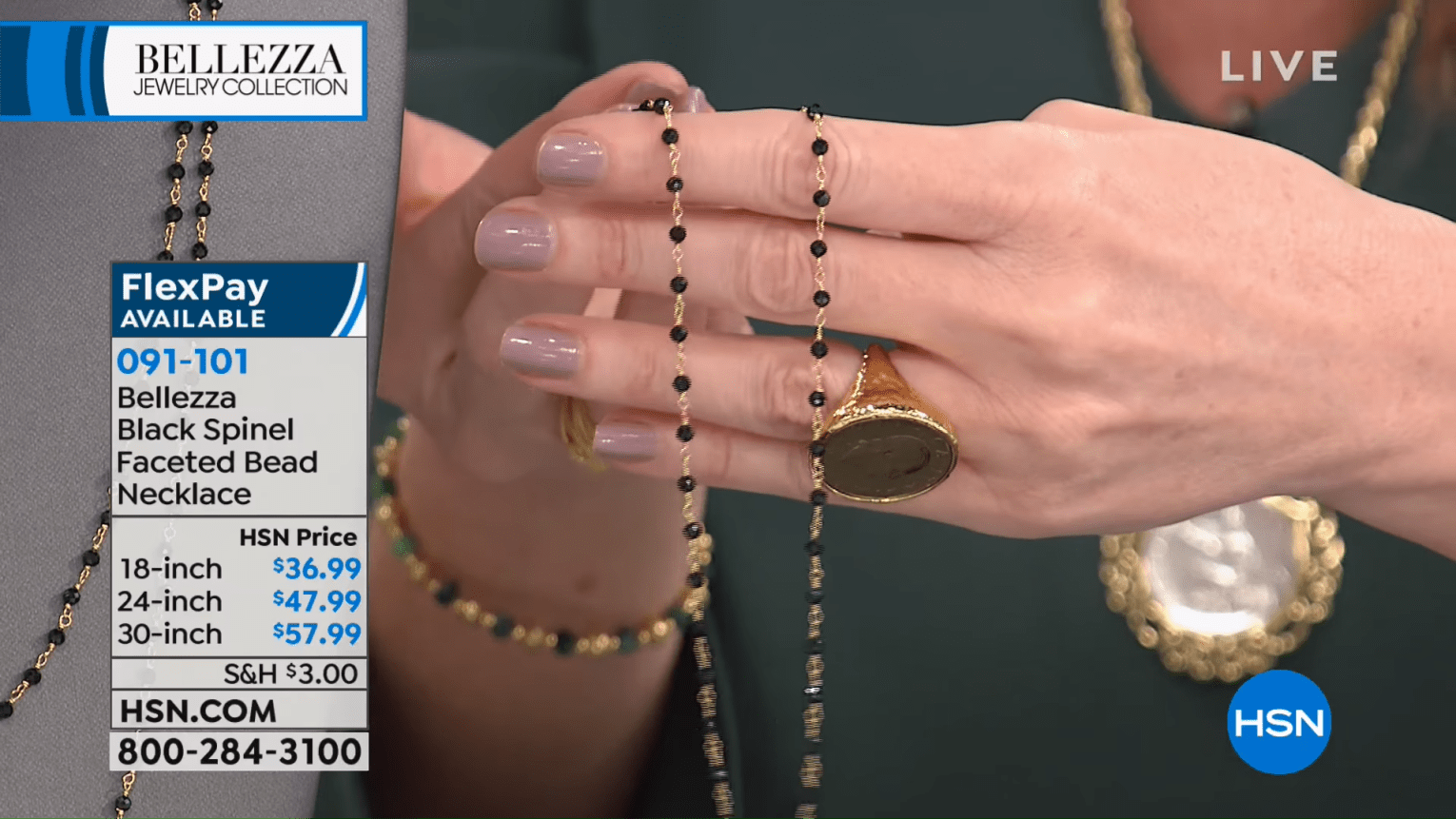 HSN _ Bellezza Jewelry Collection Gifts 10.18.2018 - 05 AM 40-19 screenshot