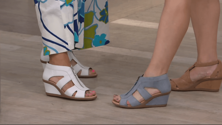 Earth Leather Zip-Up Wedges - Poppi on QVC 3-5 screenshot