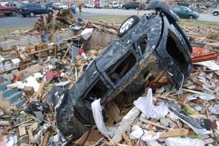 Overturned vehicle in Joplin, MO