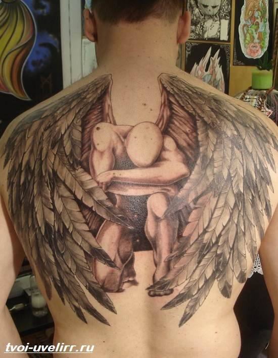 Тату-ангел-Значение-тату-ангел-Эскизы-и-фото-тату-ангел-5