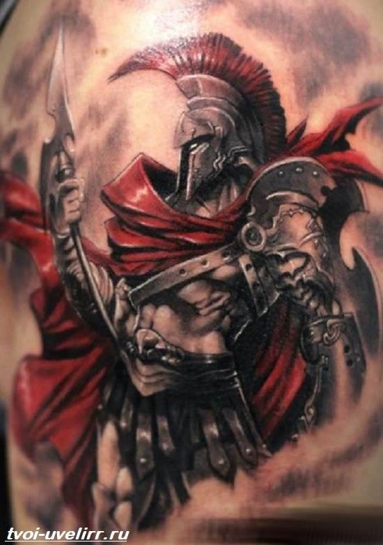 Тату-спартанец-Значение-тату-спартанец-Эскизы-и-фото-тату-спартанец-3
