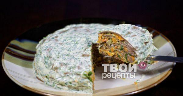 Печёночный торт рецепт с фото пошагово