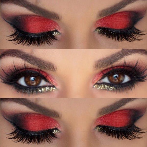 Откуда пришла мода на красные тени для макияжа глаз и как ...