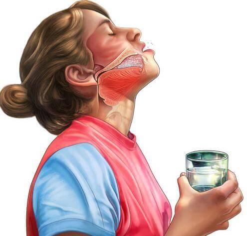 Image result for Полоскание горла раствором с солью и йодом