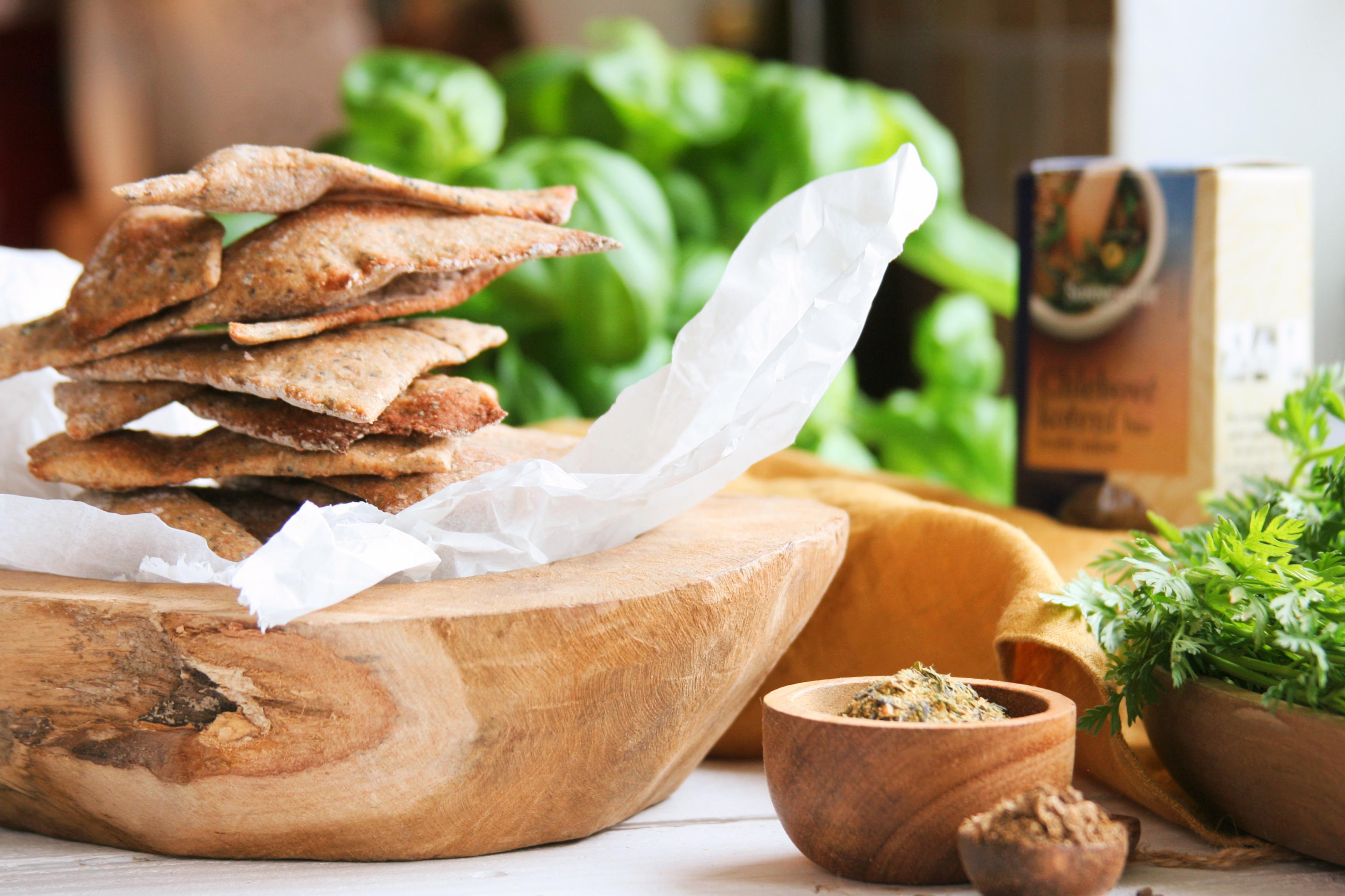 Celozrnné žitné krekry s vůní chleba