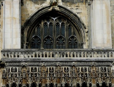 Detail on the exterior of Canterbury Cathedral