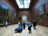 One of the galleries in the Louvre