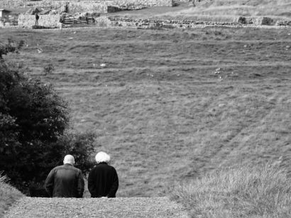 Heading towards Housesteads Roman Fort, Hadrian's Wall