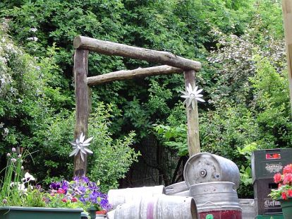 In the garden behind the Three Legged Mare is a replica of the gallows!