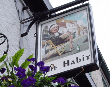 The Habit, York. One of my favourite signs! The city of York is full of old pubs with painted pub signs