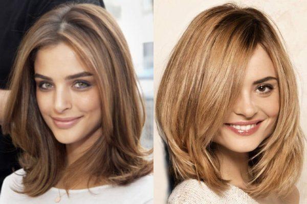 Стрижка каскад на средние волосы 2019 – 2020: вид спереди ...
