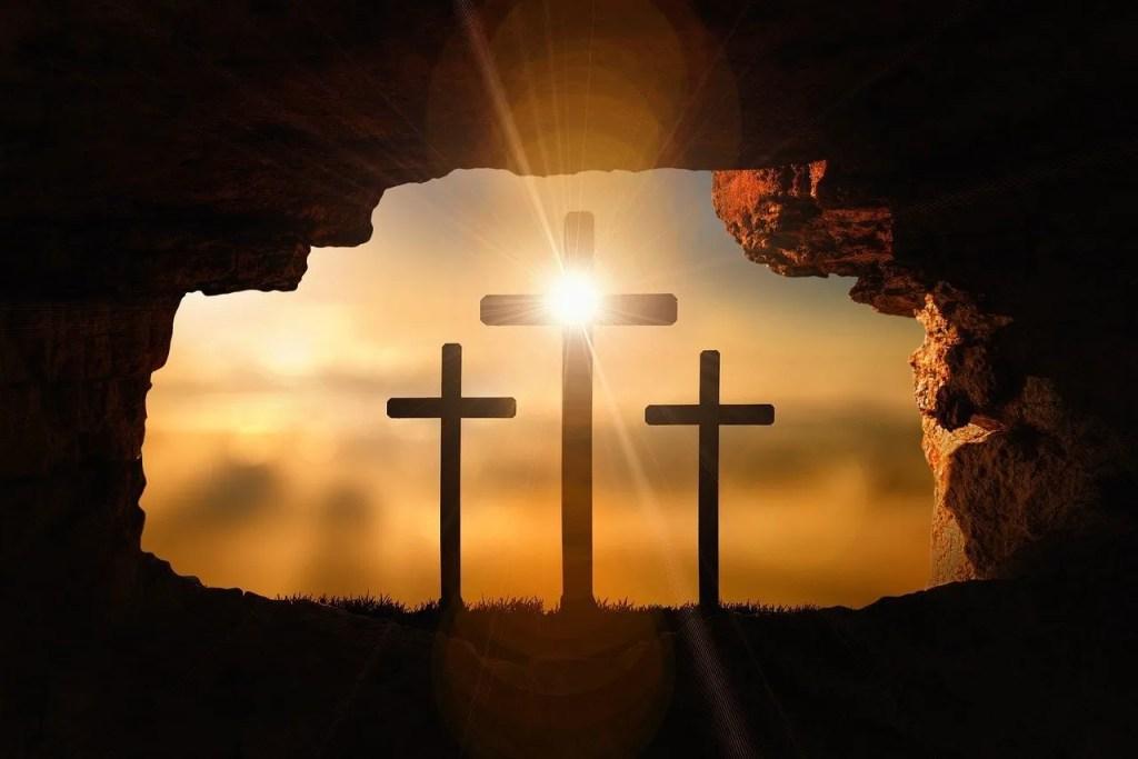 resurrection w 3 crosses