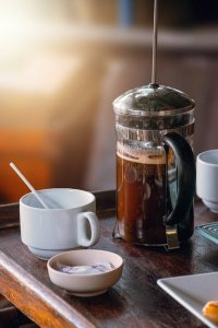 filtering through french press