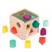 toy box with holes for shapes