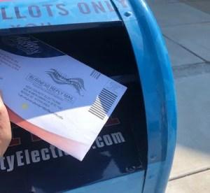 ballot in mailbox
