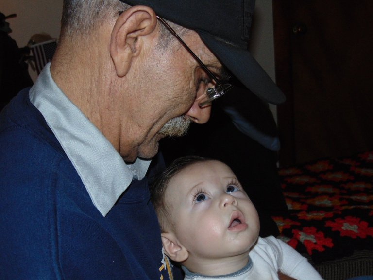 grandparent looking at child