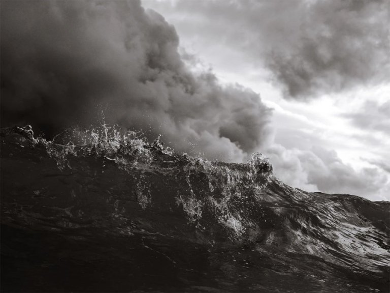 large wave and stormy sky