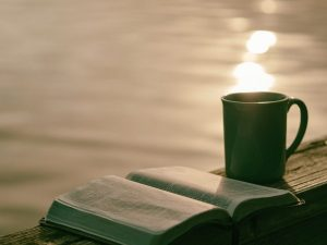 water, Bible, coffee