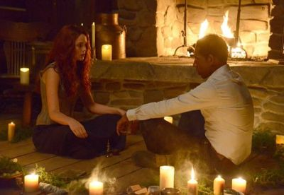 """Katrina casts a spell on Frank on the """"Kali Yuga"""" episode of Sleepy Hollow."""