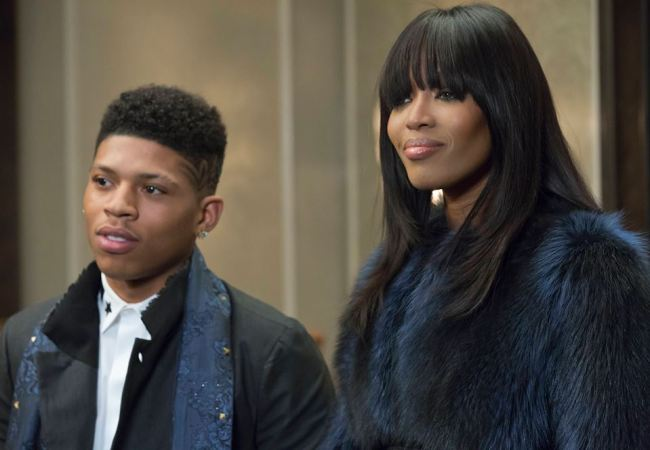 Bryshere Gray as Hakeem and Naomi Campbell as Camilla on Empire